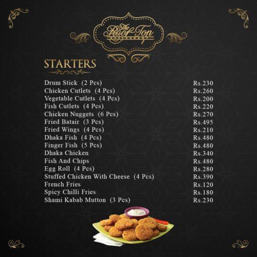 Rooftop Restaurant Hyderabad Starter Menu