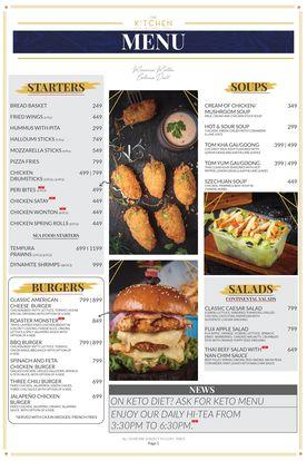The Kitchen Menu Prices 1