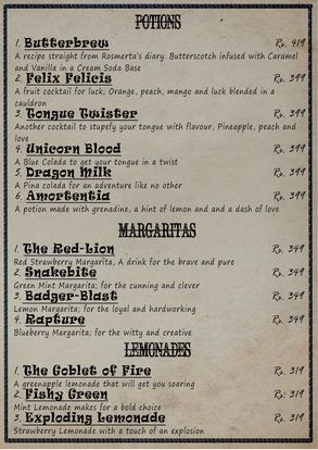 The Smokey Cauldron Menu Prices 6