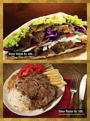 Turkish Doner Kebab Menu Prices 2