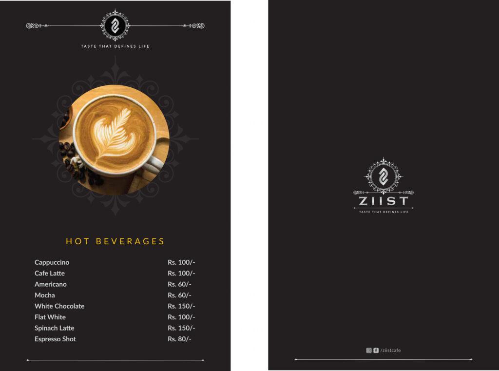 Ziist Hyderabad Coffee Menu