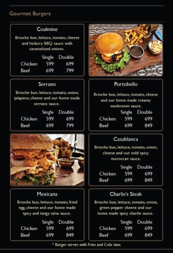 Chaplin Modern Eatery Burgers