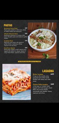 Hometown Cafe Menu Lasagna