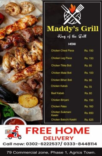 Maddys Grill Menu Prices